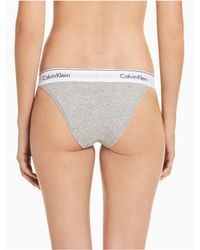 CALVIN KLEIN 205W39NYC - Gray Modern Cotton High Leg Tanga - Lyst