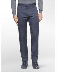 Calvin Klein | Blue Slim Fit Sateen Tux Pants for Men | Lyst