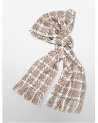 Calvin Klein - Multicolor Fringe Blanket Scarf - Lyst