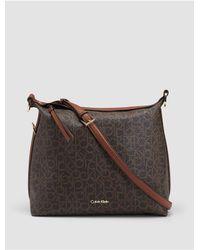 Calvin Klein | Brown Hudson Monogram Hobo | Lyst