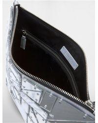 Calvin Klein - Metallic Platinum Platinum Large Chip Pouch - Lyst