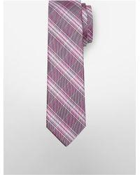 Calvin Klein - Pink Slim Crystal Plaid Tie for Men - Lyst