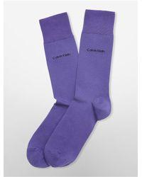 Calvin Klein | Purple Underwear Egyptian Cotton Flat Knit Socks | Lyst