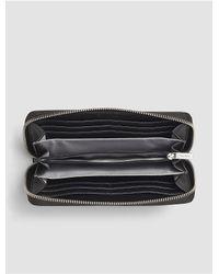 Calvin Klein - Black Jeans Julienne Leather Large Zip Wallet - Lyst