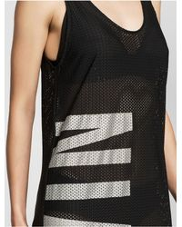 Calvin Klein - Black Intense Power Mesh Dress - Lyst