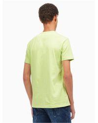 Calvin Klein - Green Regular Fit Space-dyed Logo T-shirt for Men - Lyst