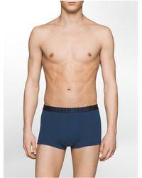 Calvin Klein   Blue Underwear Ck Id Graphic Cotton Stretch Low Rise Trunk for Men   Lyst