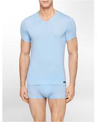 Calvin Klein | Blue Underwear Body Modal V-neck T-shirt for Men | Lyst