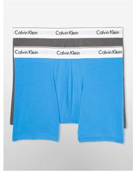 Calvin Klein | Blue Underwear Modern Cotton Stretch 2 Pack Boxer Brief for Men | Lyst