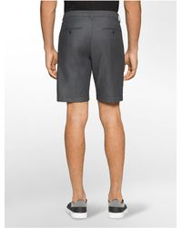 Calvin Klein - Black Slim Fit Double Faced Shorts for Men - Lyst
