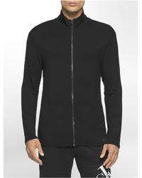 Calvin Klein | Black Underwear Liquid Terry Zip Sweater for Men | Lyst