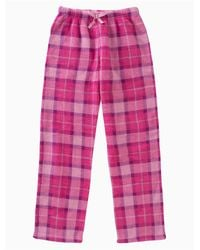 Calvin Klein - Pink Girls Plush Plaid Pants - Lyst