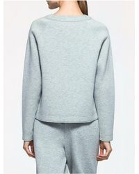 CALVIN KLEIN 205W39NYC - Blue Platinum Platinum Jersey Logo Sweatshirt - Lyst