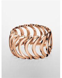 Calvin Klein - Metallic Platinum Body Pvd Rose Gold Bracelet - Lyst
