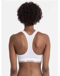 CALVIN KLEIN 205W39NYC - White Modern Cotton Bralette - Lyst