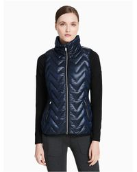CALVIN KLEIN 205W39NYC - Blue Performance Down Quilted Vest - Lyst