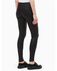 CALVIN KLEIN 205W39NYC - Oil Black Moto Jeans - Lyst