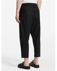 CALVIN KLEIN 205W39NYC - Black Platinum Platinum Cotton Poplin Elasticated Pants - Lyst