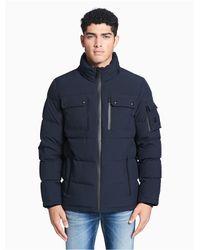 Calvin Klein - Blue Down Hooded Jacket for Men - Lyst