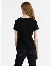 CALVIN KLEIN 205W39NYC - Black Ckj Logo Crewneck T-shirt - Lyst