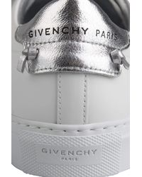 Givenchy Gray Urban Street Metallized Strap Sneakers