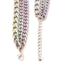 Forever 21 - Metallic Striking Oil Slick Chain Necklace - Lyst