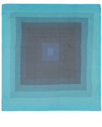 Jonathan Saunders - Blue Ombre Rectangle Print Silk Scarf - Lyst
