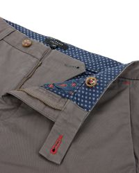 Ted Baker | Gray Slim Fit Cotton Chinos for Men | Lyst