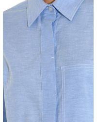 Alexander Wang - Blue Oxford Cotton Shirt Dress - Lyst