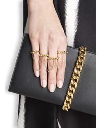 Eddie Borgo | Metallic Gold-plated Four Finger Chain Ring | Lyst