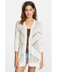 Volcom - White 'reflections' Cardigan - Lyst