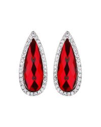 Mikey | Red Slim Oval Marquise Stud Earring | Lyst
