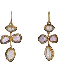 Judy Geib | Purple Pink Sapphire & Herkimer Diamond Earrings | Lyst