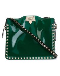 Valentino - Green 'rockstud' Shoulder Bag - Lyst