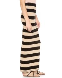 Free People - Natural Stripe Column Skirt - Lyst