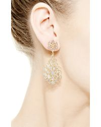 Kirat Young - Metallic Sliced Diamond Earrings - Lyst