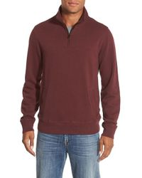 Bonobos | Purple Slim Fit Quarter Zip Sweater for Men | Lyst