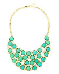 Kenneth Jay Lane   Emeraldgreen Crystal Bib Necklace   Lyst