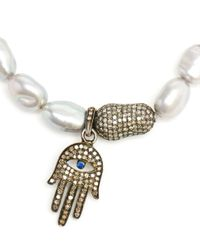 Loree Rodkin | Metallic Keshi Pearl Hand Charm Bracelet | Lyst