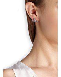 Vivienne Westwood - Metallic Grace Bas Relief Silver Tone Orb Earrings - Lyst