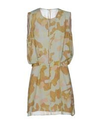 Acne Studios | Yellow Short Dress | Lyst