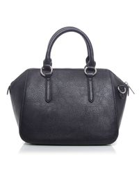 Armani Jeans | Black Metallic Strap Doctor's Bag | Lyst