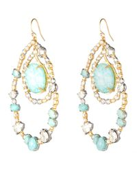 Alexis Bittar | Blue Moonlight Orbiting Link Earring | Lyst