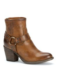 Frye | Brown Tabitha Harness Booties | Lyst