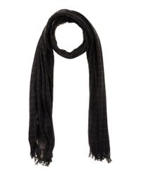 John Varvatos - Brown Oblong Scarf for Men - Lyst