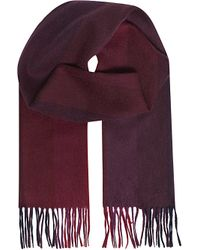 Paul Smith | Purple Cashmere Striped Scarf for Men | Lyst