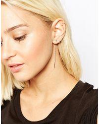 Cheap Monday | Metallic Knot Earrings | Lyst
