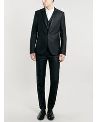 LAC - Black Bk Ultra Skinny Tuxedo Waistcoat for Men - Lyst