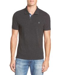 Original Penguin - Gray 'donegal' Pique Polo for Men - Lyst