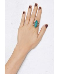 Nasty Gal - Blue From St Xavier Ellie Turquoise Ring - Lyst